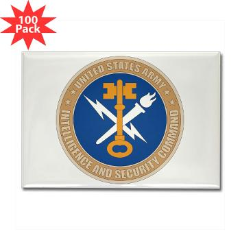INSCOM - M01 - 01 - SSI - U.S. Army Intelligence and Security Command (INSCOM) - Rectangle Magnet (100 pack)