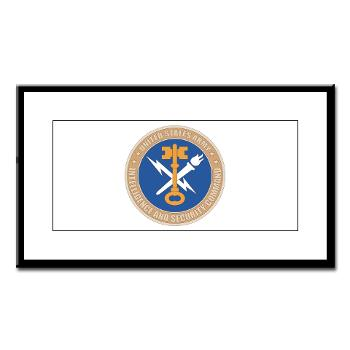 INSCOM - M01 - 02 - SSI - U.S. Army Intelligence and Security Command (INSCOM) - Small Framed Print