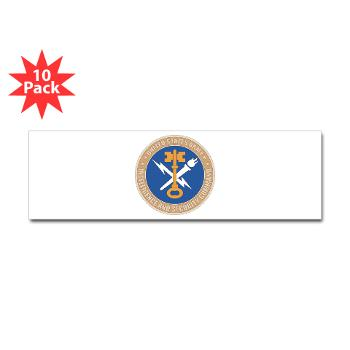 INSCOM - M01 - 01 - SSI - U.S. Army Intelligence and Security Command (INSCOM) - Sticker (Bumper 10 pk)