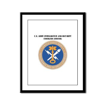 INSCOM - M01 - 02 - SSI - U.S. Army Intelligence and Security Command (INSCOM) with Text - Framed Panel Print