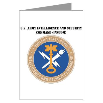 INSCOM - M01 - 02 - SSI - U.S. Army Intelligence and Security Command (INSCOM) with Text - Greeting Cards (Pk of 10)