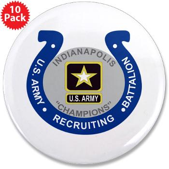 "IRB - M01 - 01 - DUI - Indianapolis Recruiting Battalion - 3.5"" Button (10 pack)"