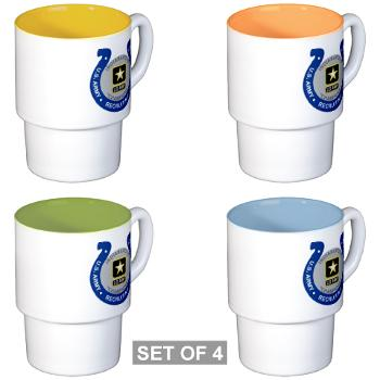 IRB - M01 - 03 - DUI - Indianapolis Recruiting Battalion - Stackable Mug Set (4 mugs)