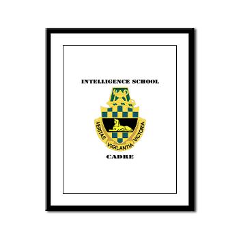 ISC - M01 - 02 - DUI - Intelligence School Cadre with Text - Framed Panel Print