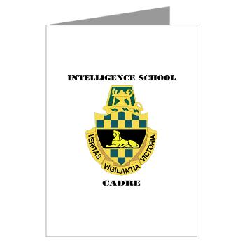ISC - M01 - 02 - DUI - Intelligence School Cadre with Text - Greeting Cards (Pk of 20)