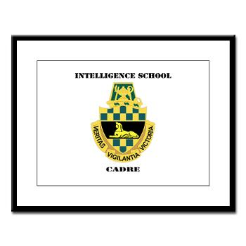 ISC - M01 - 02 - DUI - Intelligence School Cadre with Text - Large Framed Print