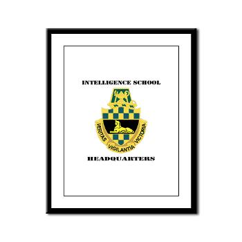 ISH - M01 - 02 - DUI - Intelligence School Headquarters with Text - Framed Panel Print