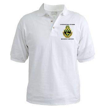 ISH - A01 - 04 - DUI - Intelligence School Headquarters with Text - Golf Shirt