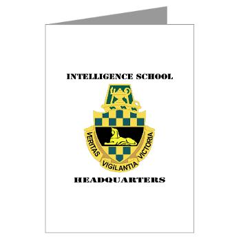 ISH - M01 - 02 - DUI - Intelligence School Headquarters with Text - Greeting Cards (Pk of 20)