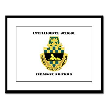 ISH - M01 - 02 - DUI - Intelligence School Headquarters with Text - Large Framed Print