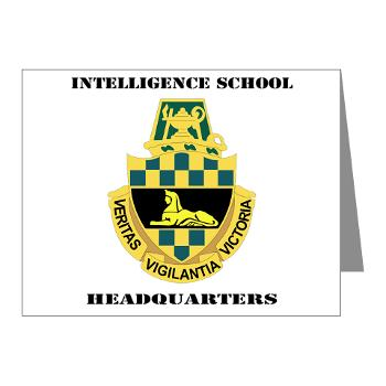 ISH - M01 - 02 - DUI - Intelligence School Headquarters with Text - Note Cards (Pk of 20)