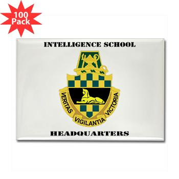ISH - M01 - 01 - DUI - Intelligence School Headquarters with Text - Rectangle Magnet (100 pack)