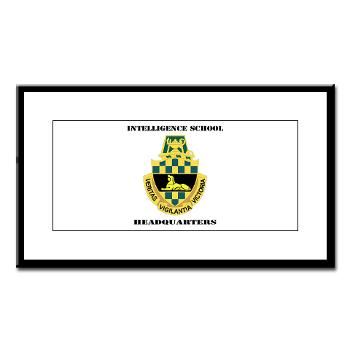 ISH - M01 - 02 - DUI - Intelligence School Headquarters with Text - Small Framed Print