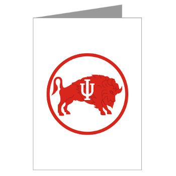 IU - M01 - 02 - SSI - ROTC - Indiana University - Greeting Cards (Pk of 10)