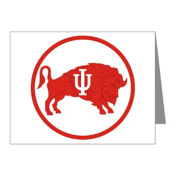 IU - M01 - 02 - SSI - ROTC - Indiana University - Note Cards (Pk of 20)