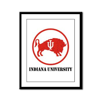 IU - M01 - 02 - SSI - ROTC - Indiana University with Text - Framed Panel Print