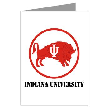 IU - M01 - 02 - SSI - ROTC - Indiana University with Text - Greeting Cards (Pk of 10)