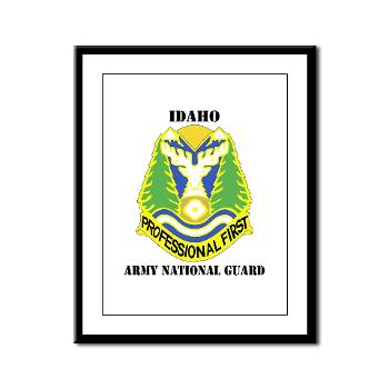 dahoARNG - M01 - 02 - DUI - Idaho Army National Guard with text - Framed Panel Print