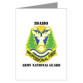 dahoARNG - M01 - 02 - DUI - Idaho Army National Guard with text - Greeting Cards (Pk of 20)