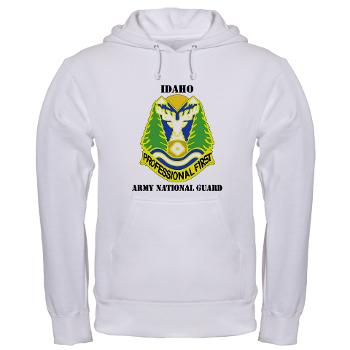 dahoARNG - A01 - 03 - DUI - Idaho Army National Guard with text - Hooded Sweatshirt