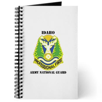 dahoARNG - M01 - 02 - DUI - Idaho Army National Guard with text - Journal