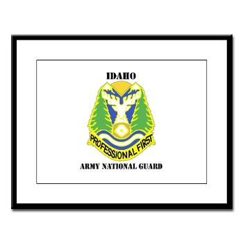 dahoARNG - M01 - 02 - DUI - Idaho Army National Guard with text - Large Framed Print