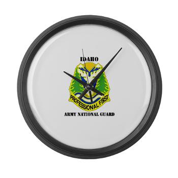 dahoARNG - M01 - 03 - DUI - Idaho Army National Guard with text - Large Wall Clock