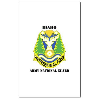 dahoARNG - M01 - 02 - DUI - Idaho Army National Guard with text - Mini Poster Print