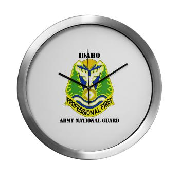 dahoARNG - M01 - 03 - DUI - Idaho Army National Guard with text - Modern Wall Clock