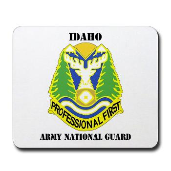dahoARNG - M01 - 03 - DUI - Idaho Army National Guard with text - Mousepad