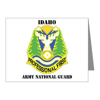 dahoARNG - M01 - 02 - DUI - Idaho Army National Guard with text - Note Cards (Pk of 20)