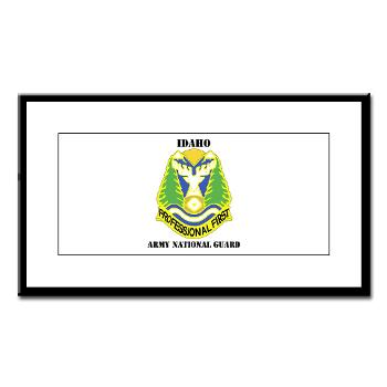 dahoARNG - M01 - 02 - DUI - Idaho Army National Guard with text - Small Framed Print