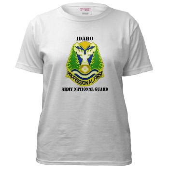 dahoARNG - A01 - 04 - DUI - Idaho Army National Guard with text - Women's T-Shirt