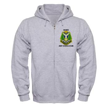 dahoARNG - A01 - 03 - DUI - Idaho Army National Guard with text - Zip Hoodie