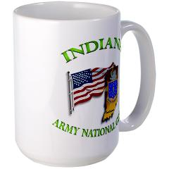 IndianaARNG - M01 - 03 - DUI-INDIANA Army National Guard WITH FLAG - Large Mug