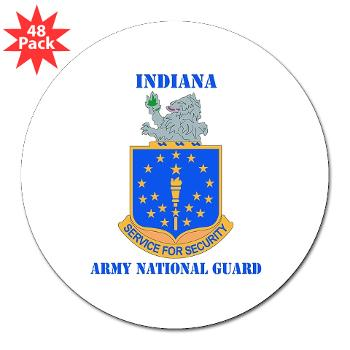 "IndianaARNG - M01 - 01 - DUI - Indiana Army National Guard with text - 3"" Lapel Sticker (48 pk)"