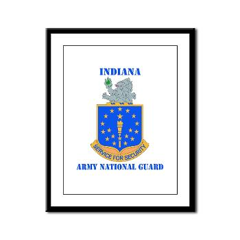 IndianaARNG - M01 - 02 - DUI - Indiana Army National Guard with text - Framed Panel Print