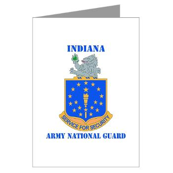 IndianaARNG - M01 - 02 - DUI - Indiana Army National Guard with text - Greeting Cards (Pk of 10)