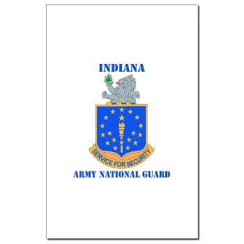 IndianaARNG - M01 - 02 - DUI - Indiana Army National Guard with text - Mini Poster Print