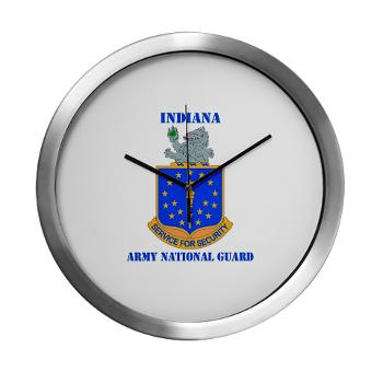 IndianaARNG - M01 - 03 - DUI - Indiana Army National Guard with text - Modern Wall Clock