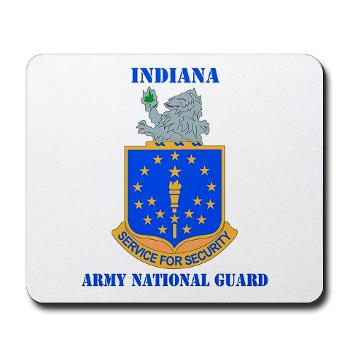 IndianaARNG - M01 - 03 - DUI - Indiana Army National Guard with text - Mousepad