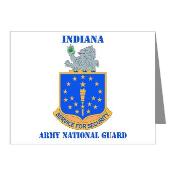 IndianaARNG - M01 - 02 - DUI - Indiana Army National Guard with text - Note Cards (Pk of 20)