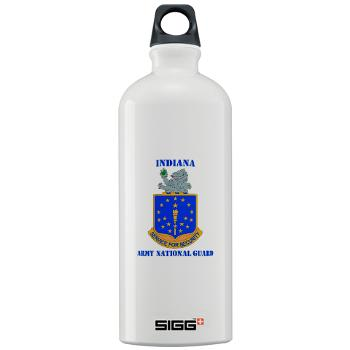 IndianaARNG - M01 - 03 - DUI - Indiana Army National Guard with text - Sigg Water Bottle 1.0L