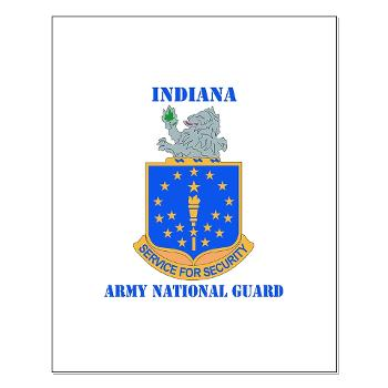 IndianaARNG - M01 - 02 - DUI - Indiana Army National Guard with text - Small Poster