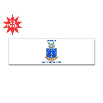 IndianaARNG - M01 - 01 - DUI - Indiana Army National Guard with text - Sticker (Bumper 50 pk)
