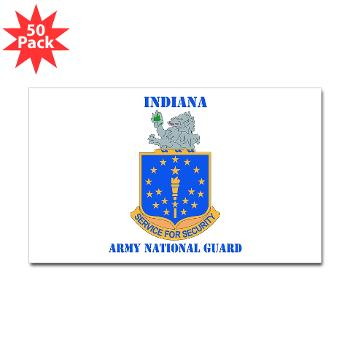 IndianaARNG - M01 - 01 - DUI - Indiana Army National Guard with text - Sticker (Rectangle 50 pk)