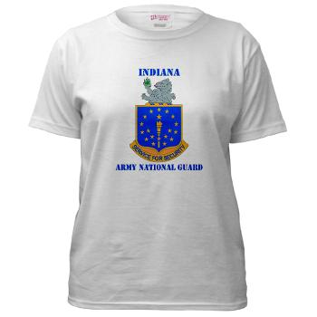 IndianaARNG - A01 - 04 - DUI - Indiana Army National Guard with text - Women's T-Shirt