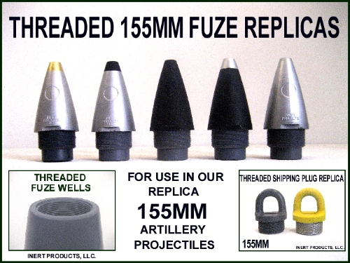 155MM Artillery Projectile Threaded Replica Fuze