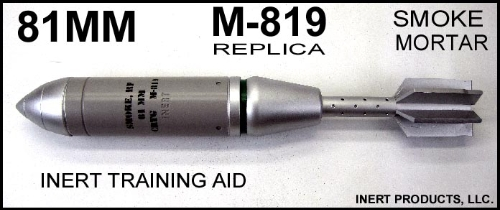 Inert, Replica 81mm M-819 Smoke Mortar Round