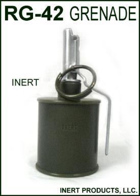 Inert, RG-42 Hand Grenade
